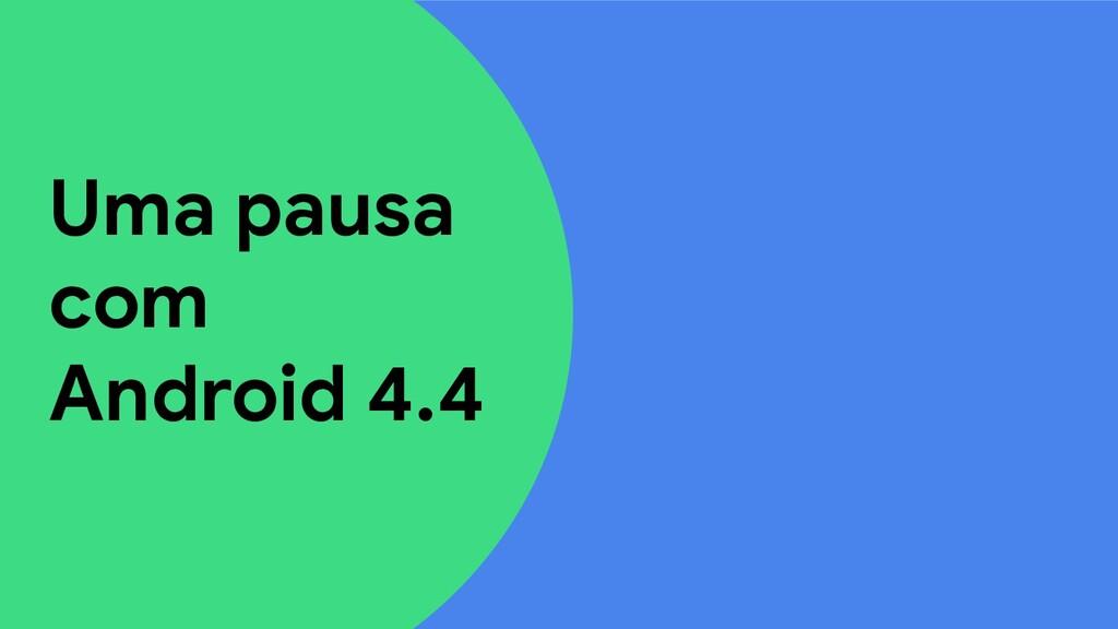 Uma pausa com Android 4.4