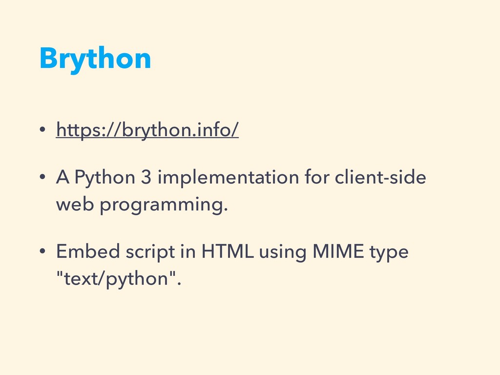 Brython • https://brython.info/ • A Python 3 im...