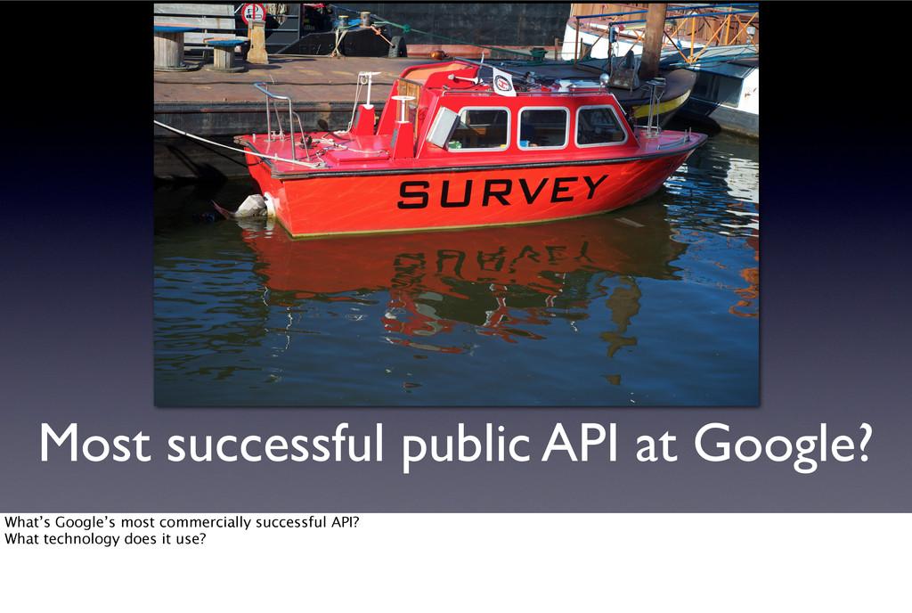 Most successful public API at Google? What's Go...