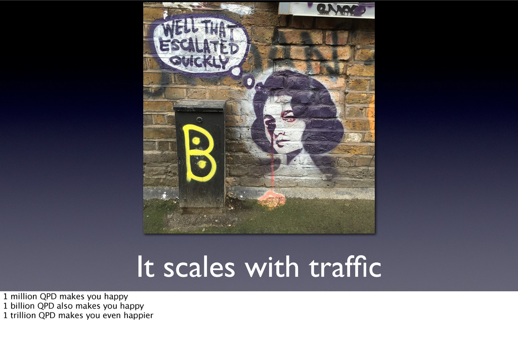 It scales with traffic 1 million QPD makes you h...