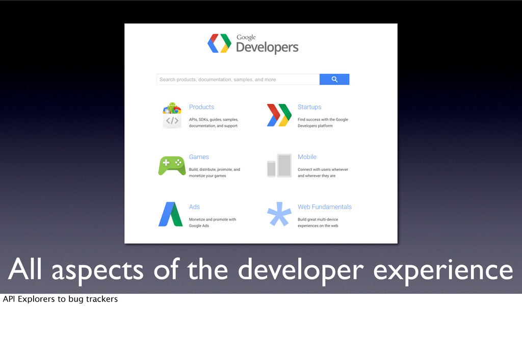 All aspects of the developer experience API Exp...