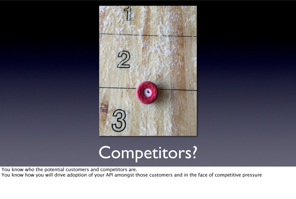 Competitors? You know who the potential custome...