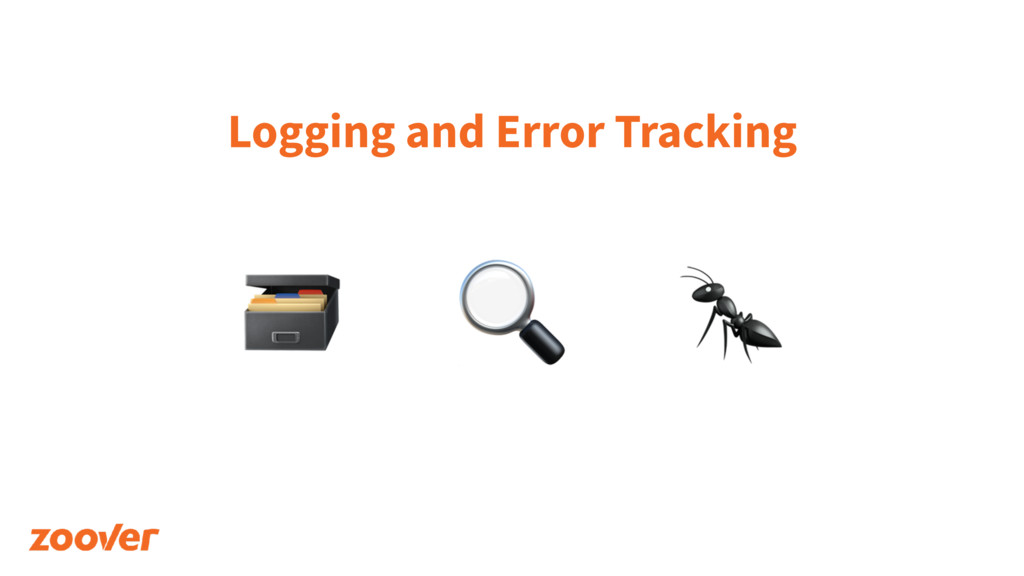 Logging and Error Tracking