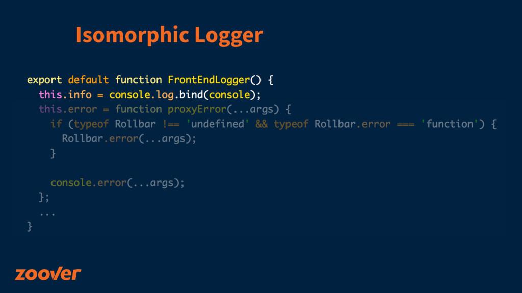 Isomorphic Logger