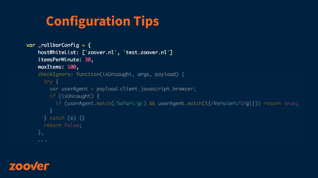Configuration Tips
