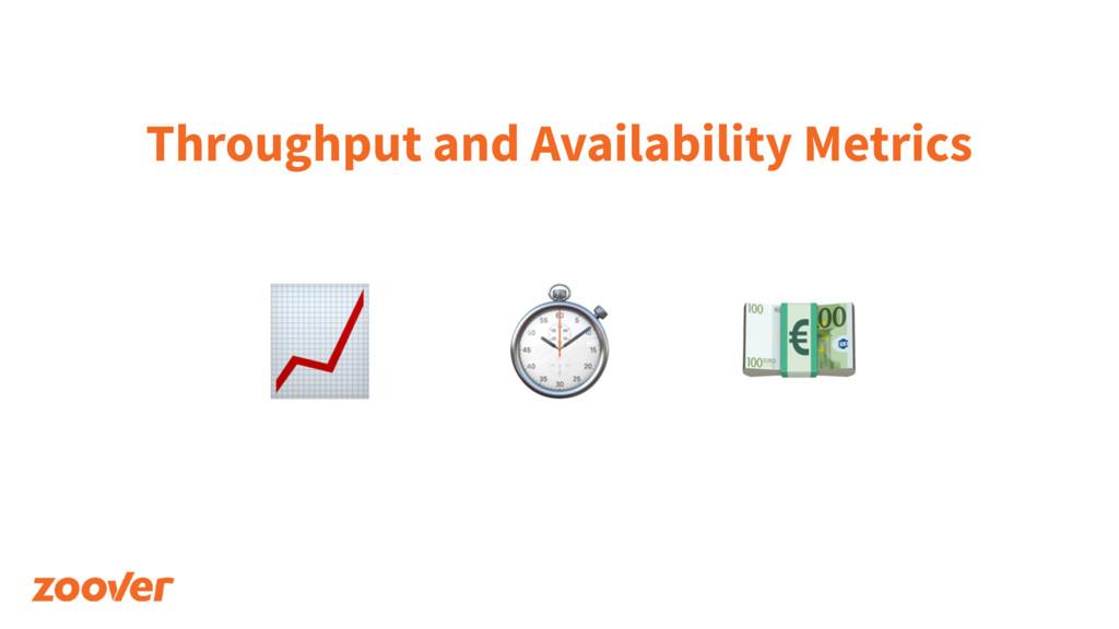 Throughput and Availability Metrics ⏱