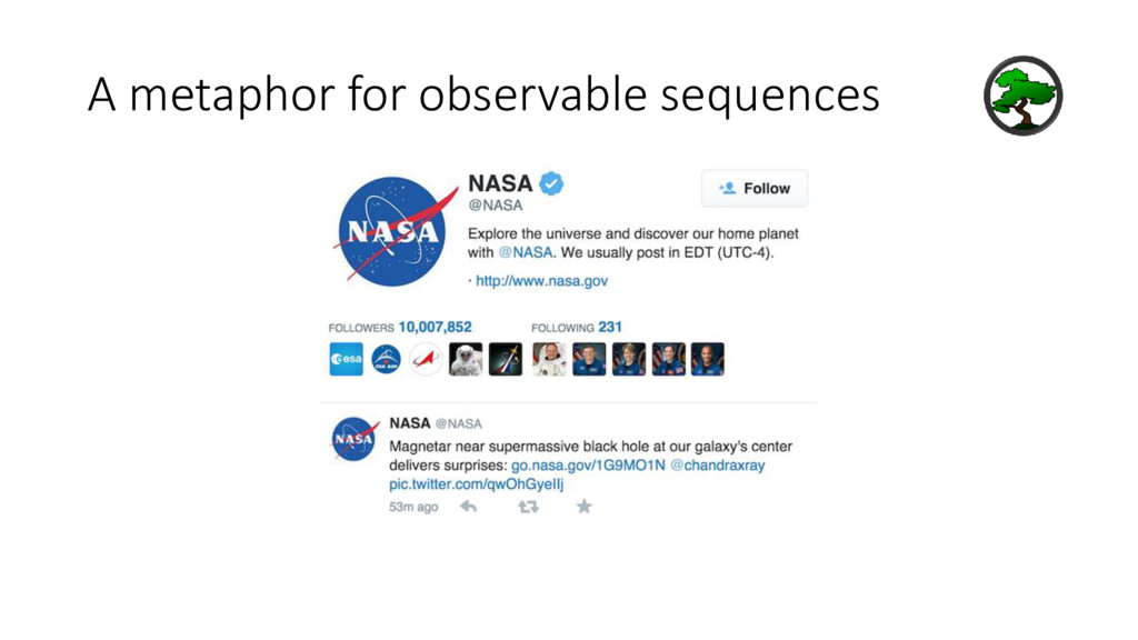 A metaphor for observable sequences