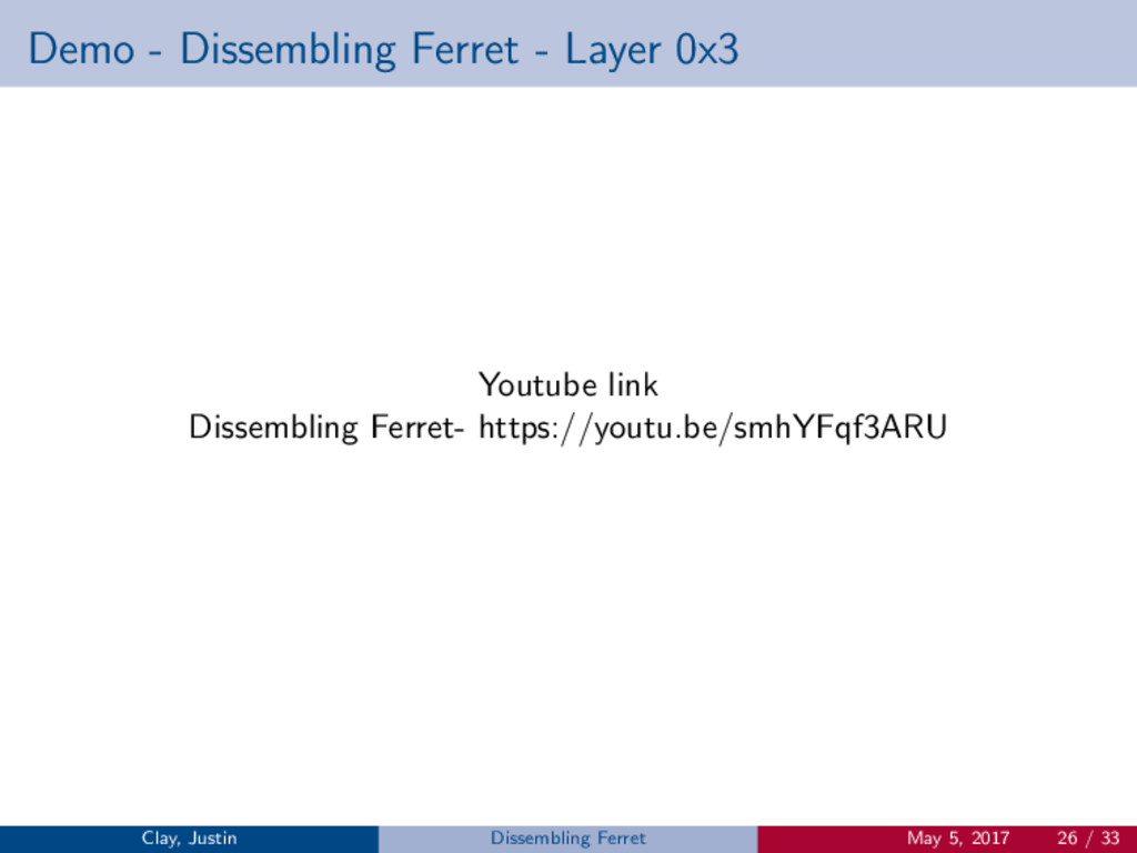 Demo - Dissembling Ferret - Layer 0x3 Youtube l...