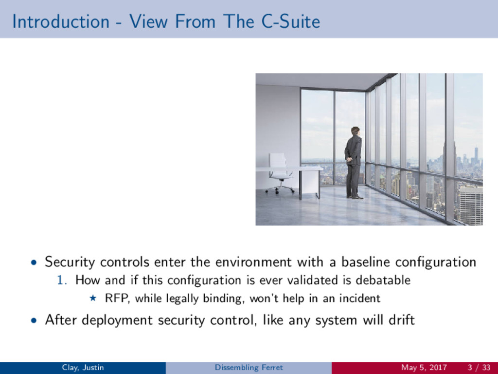 Introduction - View From The C-Suite • Security...