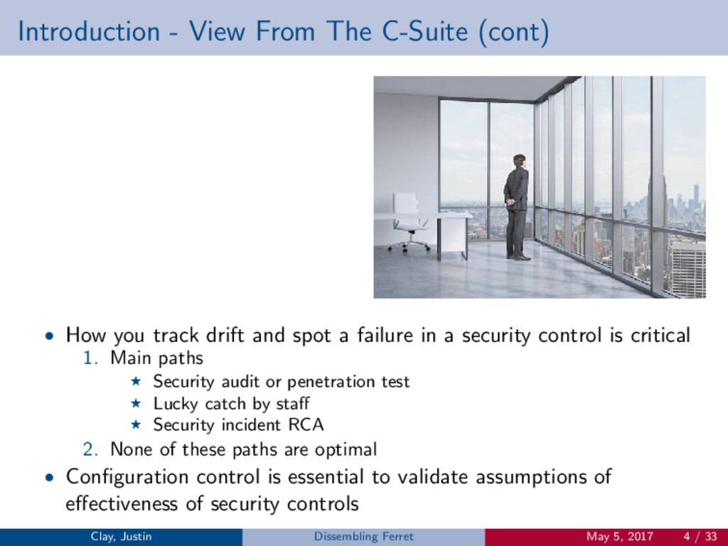 Introduction - View From The C-Suite (cont) • H...