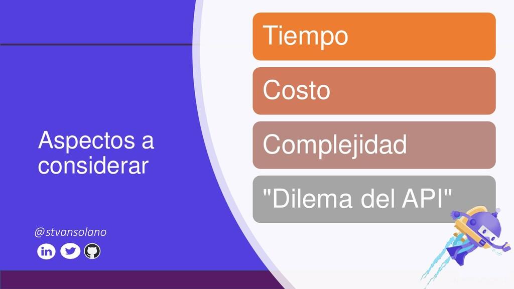 #netcoreconf Aspectos a considerar Tiempo Costo...