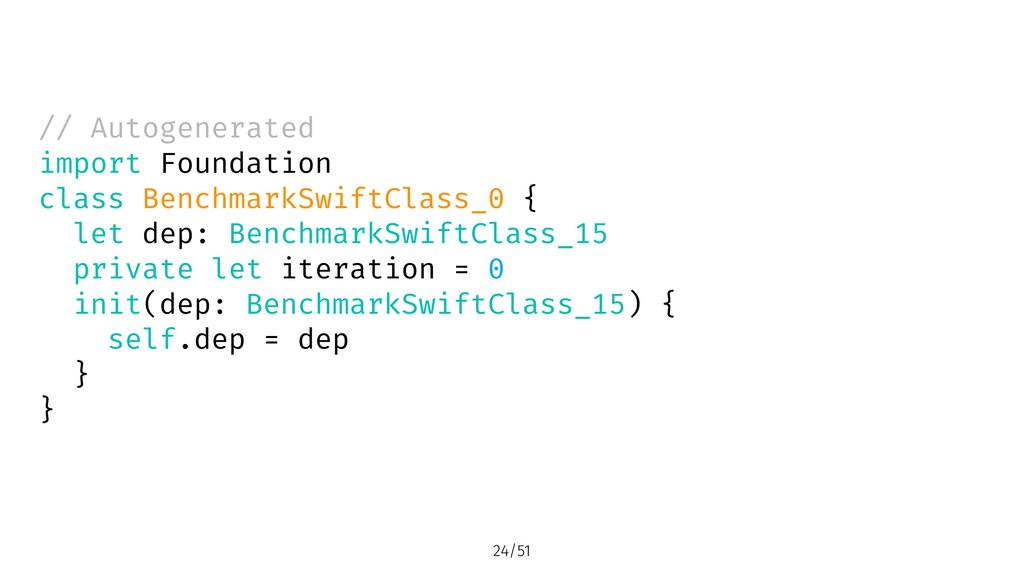 // Autogenerated import Foundation class Benchm...
