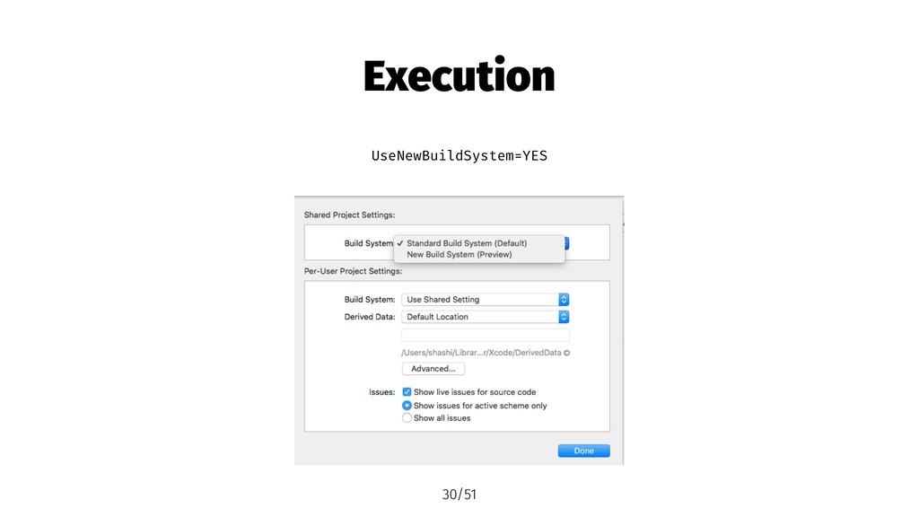 Execution UseNewBuildSystem=YES 30/51