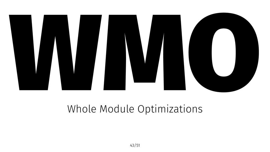 WMO Whole Module Optimizations 43/51