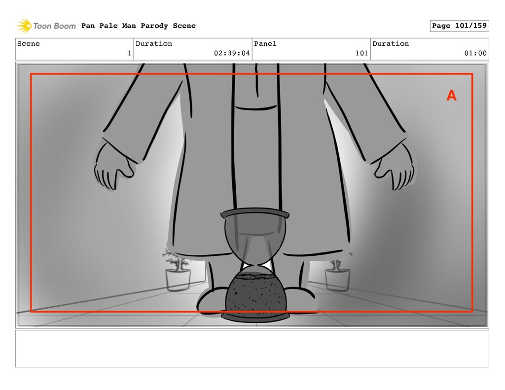Scene 1 Duration 02:39:04 Panel 101 Duration 01...