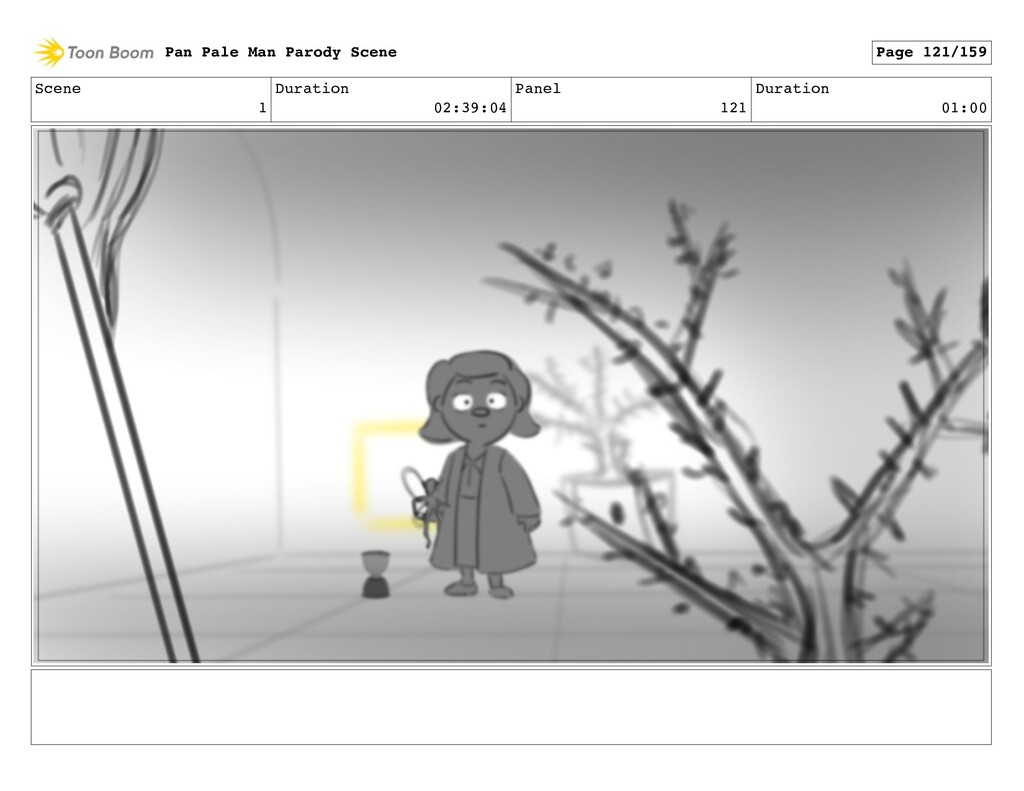 Scene 1 Duration 02:39:04 Panel 121 Duration 01...