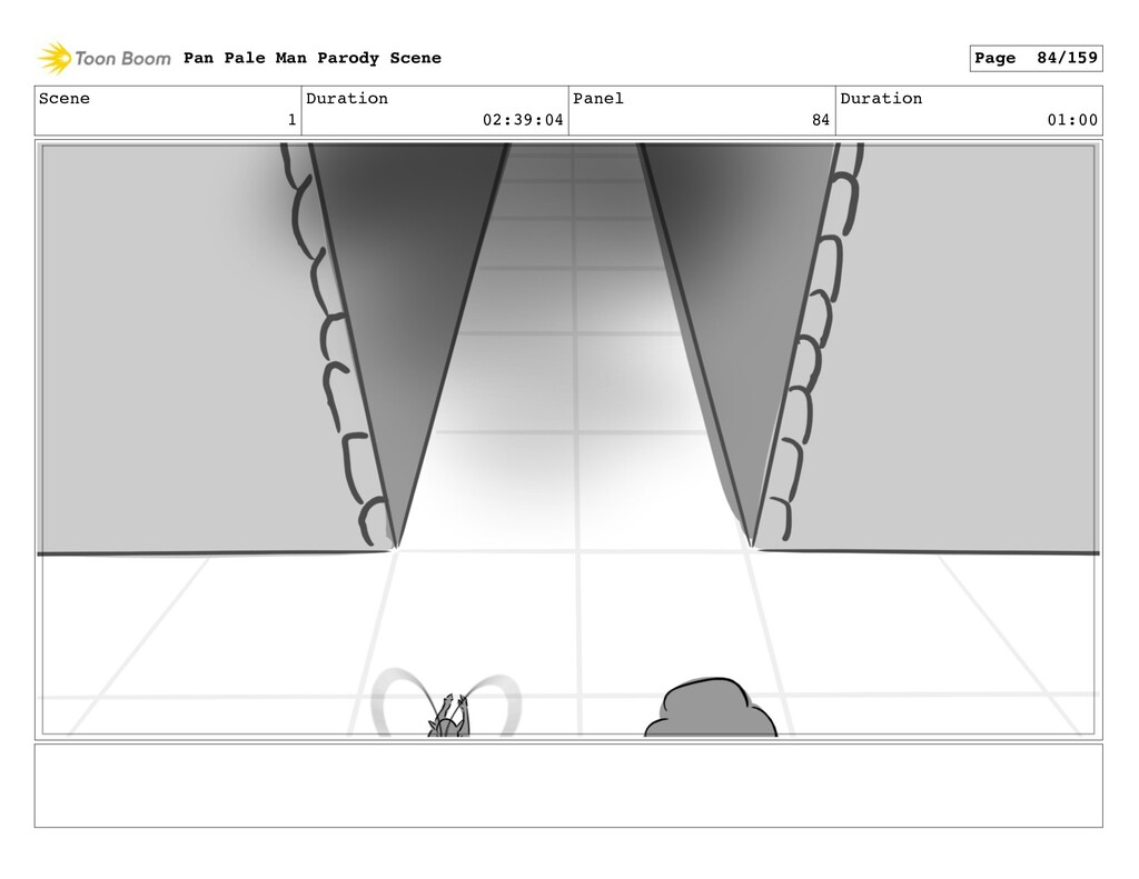 Scene 1 Duration 02:39:04 Panel 84 Duration 01:...