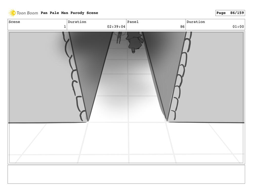 Scene 1 Duration 02:39:04 Panel 86 Duration 01:...