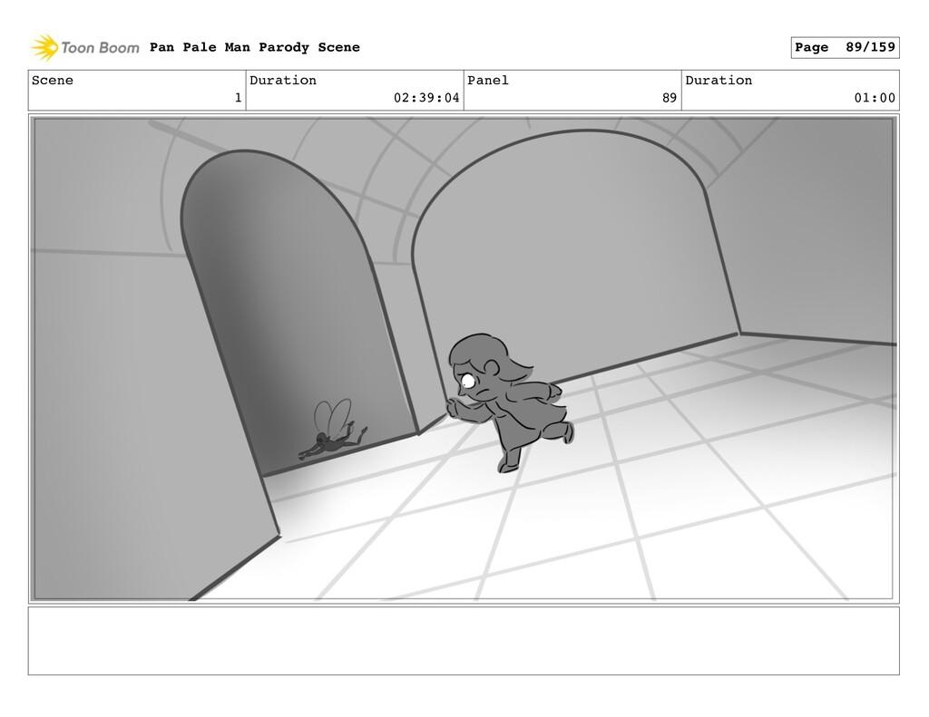 Scene 1 Duration 02:39:04 Panel 89 Duration 01:...