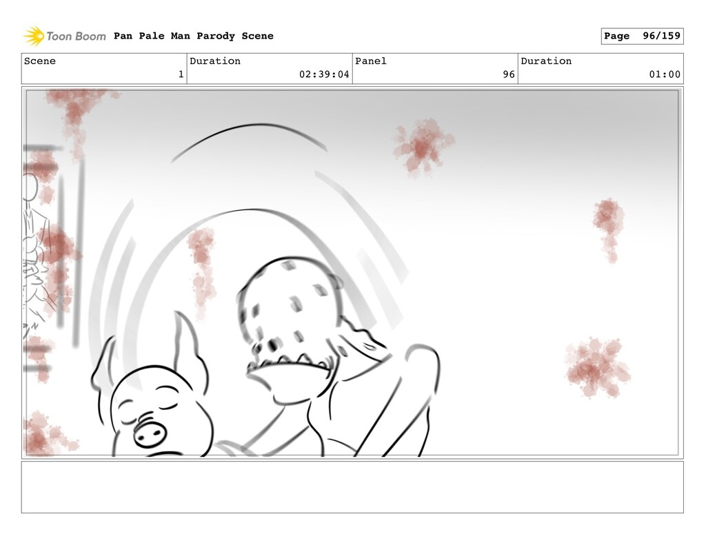 Scene 1 Duration 02:39:04 Panel 96 Duration 01:...