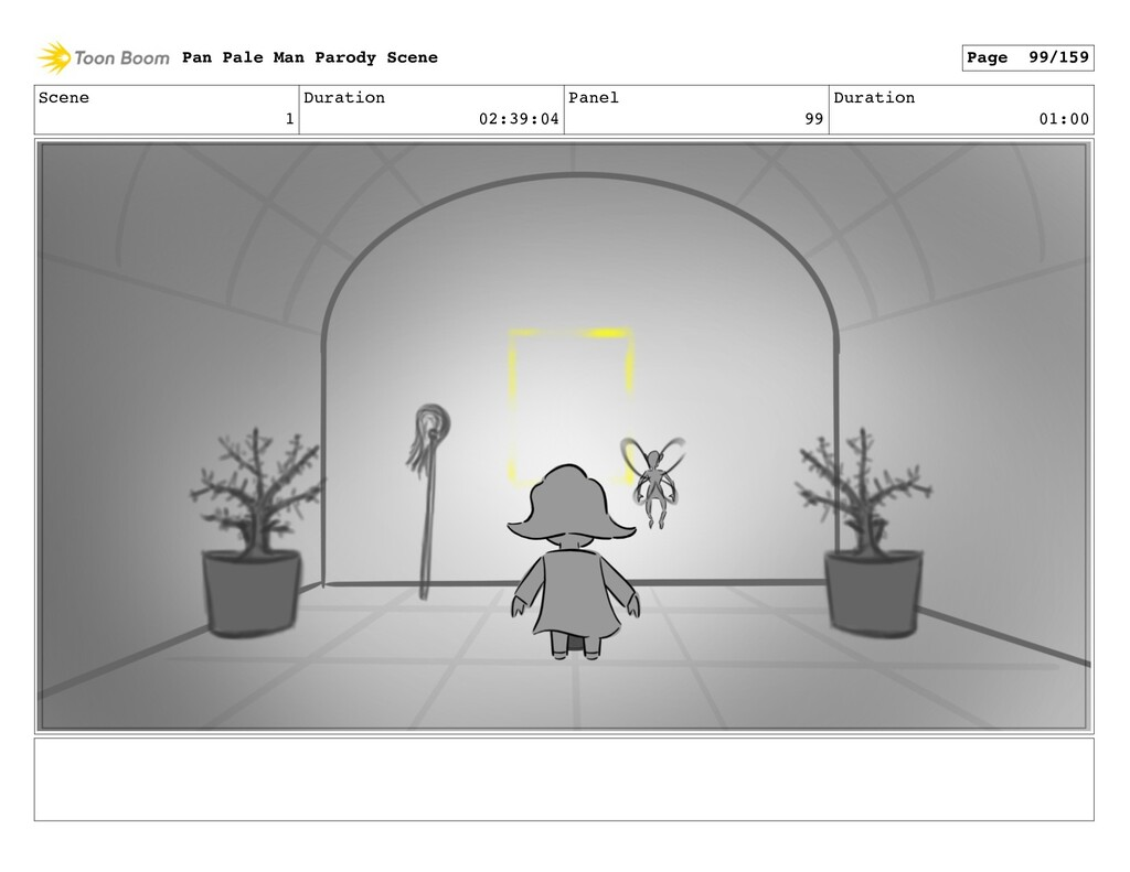 Scene 1 Duration 02:39:04 Panel 99 Duration 01:...