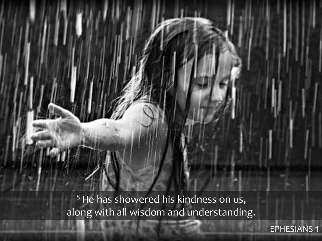 8 He has showered his kindness on us, along wit...