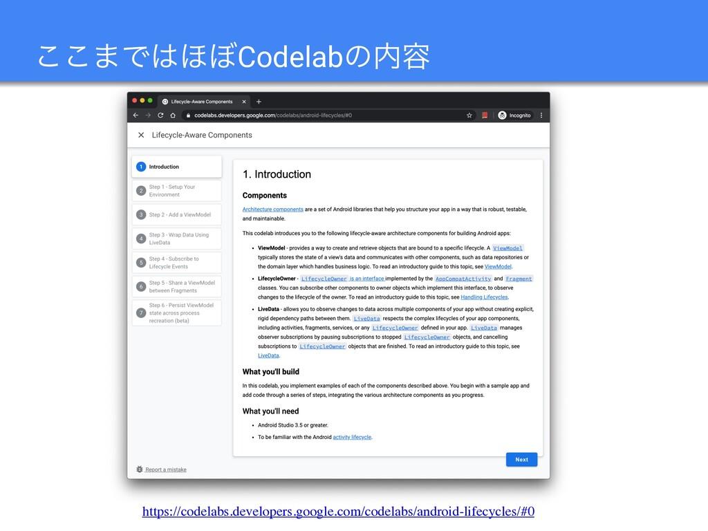 ͜͜·Ͱ΄΅Codelabͷ༰ https://codelabs.developers.g...