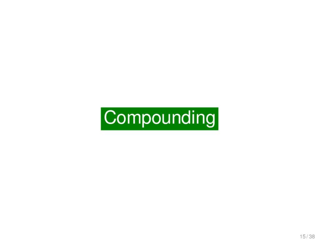 Compounding Compounding 15 / 38