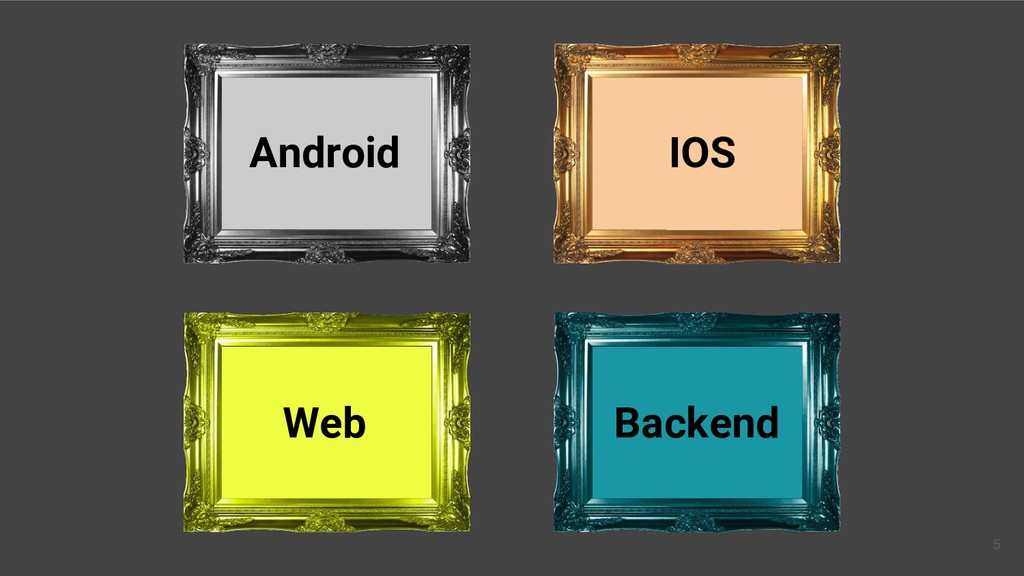 Web Android Backend IOS 5