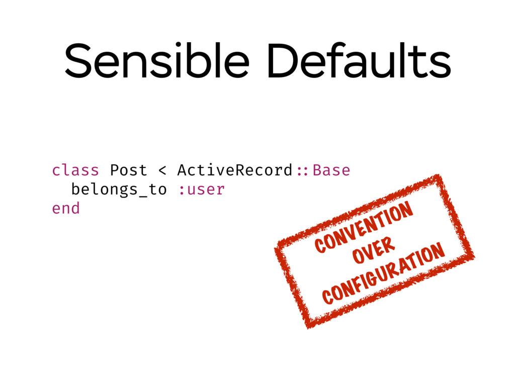 Sensible Defaults class Post < ActiveRecord ::B...