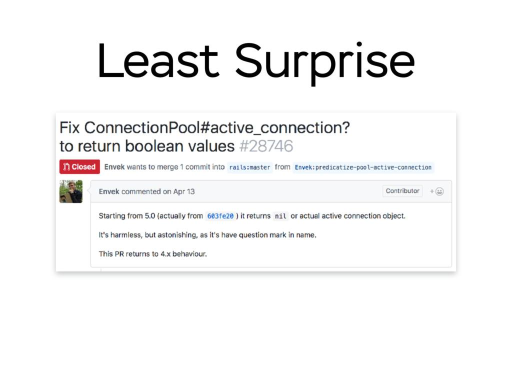 Least Surprise