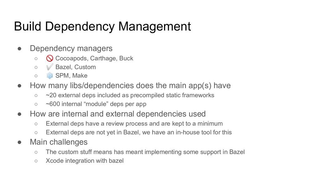 Build Dependency Management ● Dependency manage...