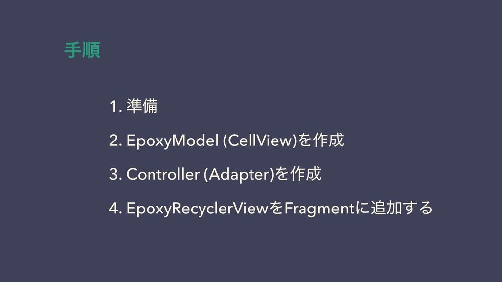 1. ४උ 2. EpoxyModel (CellView)Λ࡞ 3. Controller...