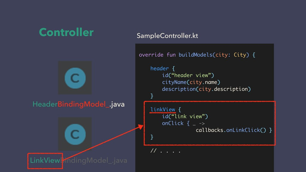 Controller HeaderBindingModel_.java LinkViewBin...
