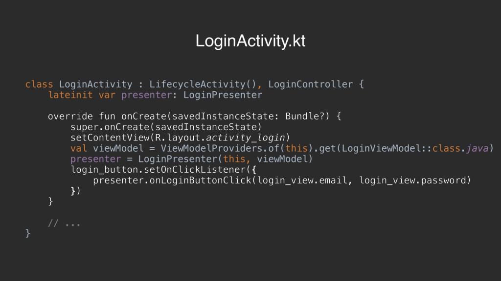 class LoginActivity : LifecycleActivity(), Logi...