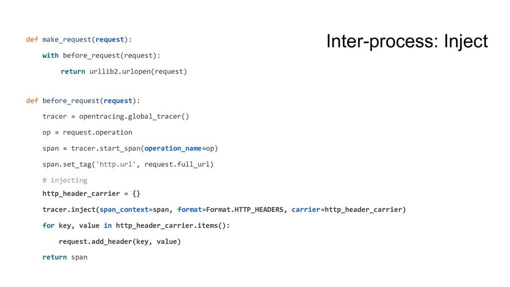 Inter-process: Inject def make_request(request)...