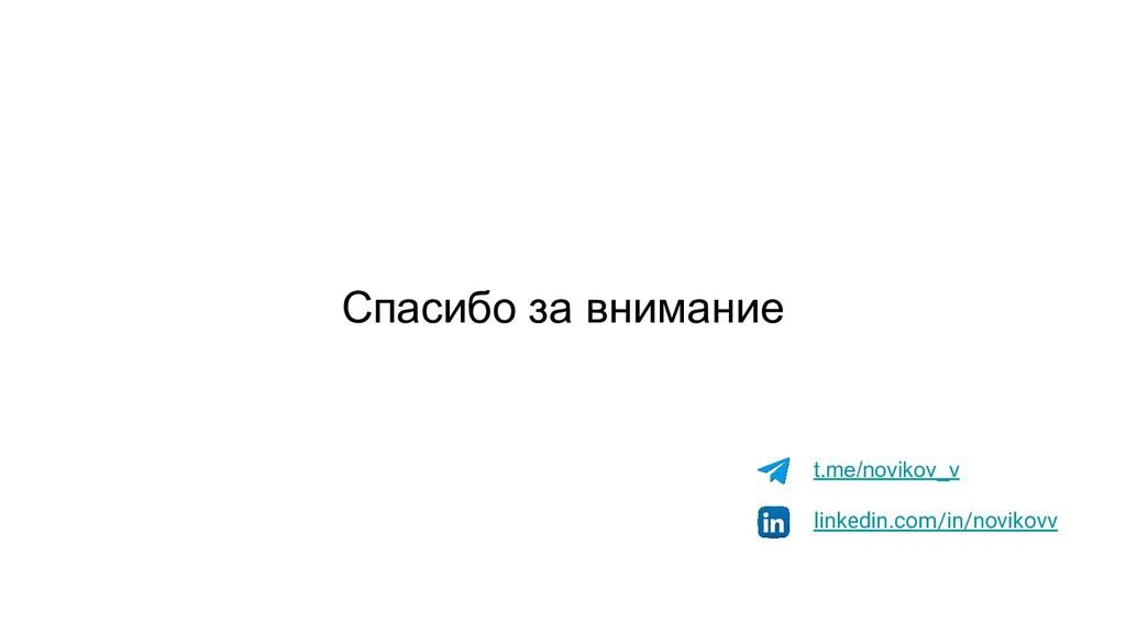 Спасибо за внимание t.me/novikov_v linkedin.com...