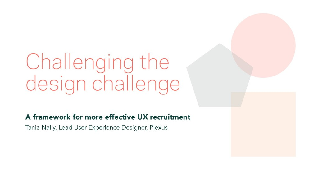 Challenging the design challenge A framework fo...
