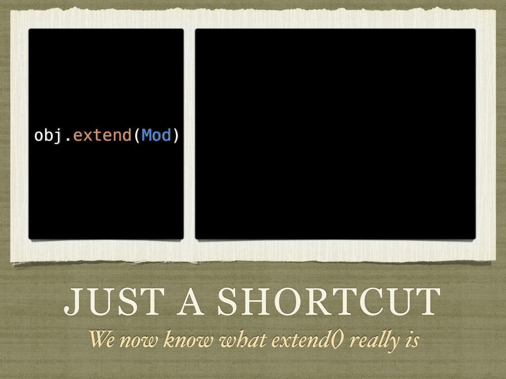 JUST A SHORTCUT We now know what extend() reall...