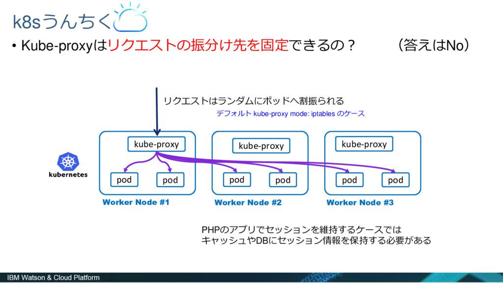 • Kube-proxyはリクエストの振分け先を固定できるの? (答えはNo) k8sうんちく...