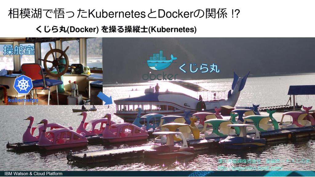 相模湖で悟ったKubernetesとDockerの関係 !? くじら丸(Docker) を操る...