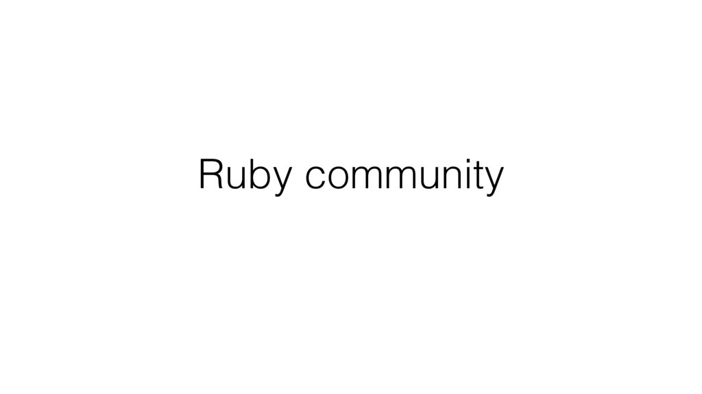 Ruby community
