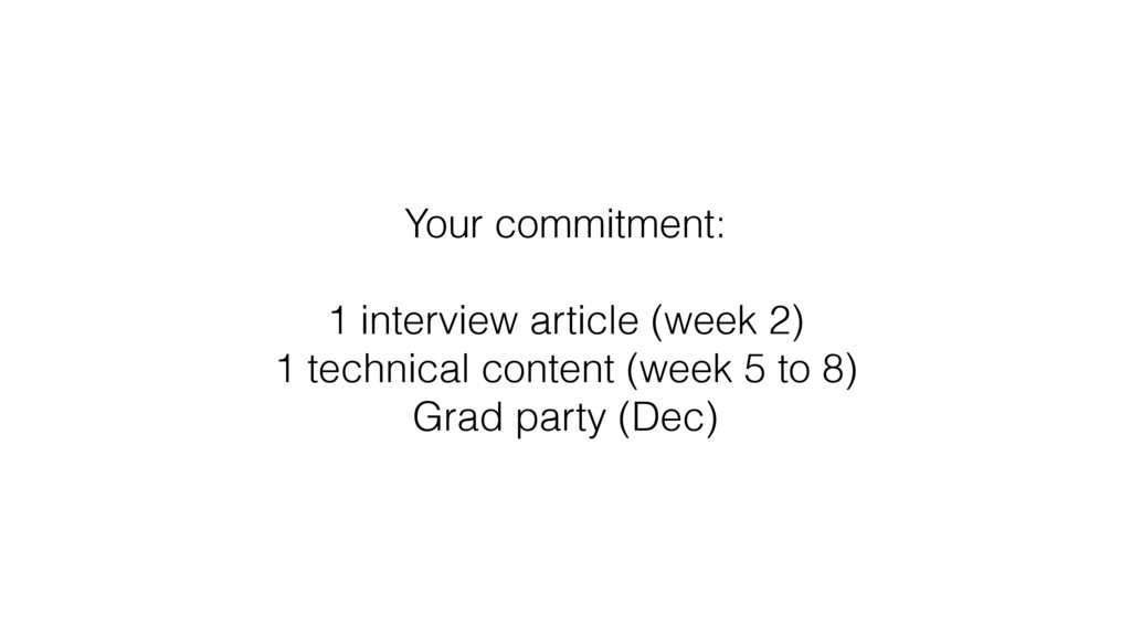 Your commitment: 1 interview article (week 2) 1...