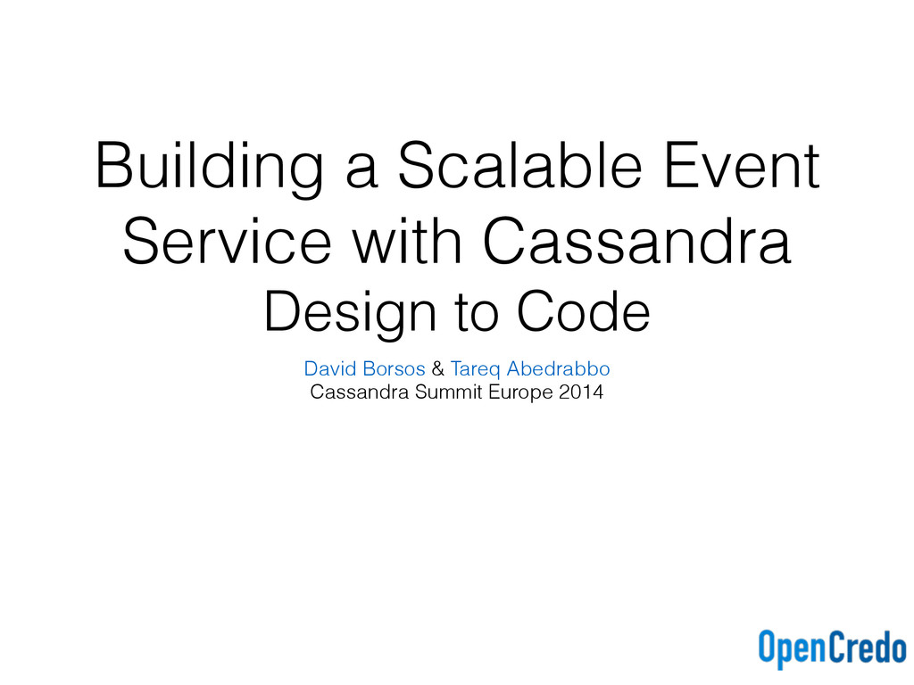 Building a Scalable Event Service with Cassandr...