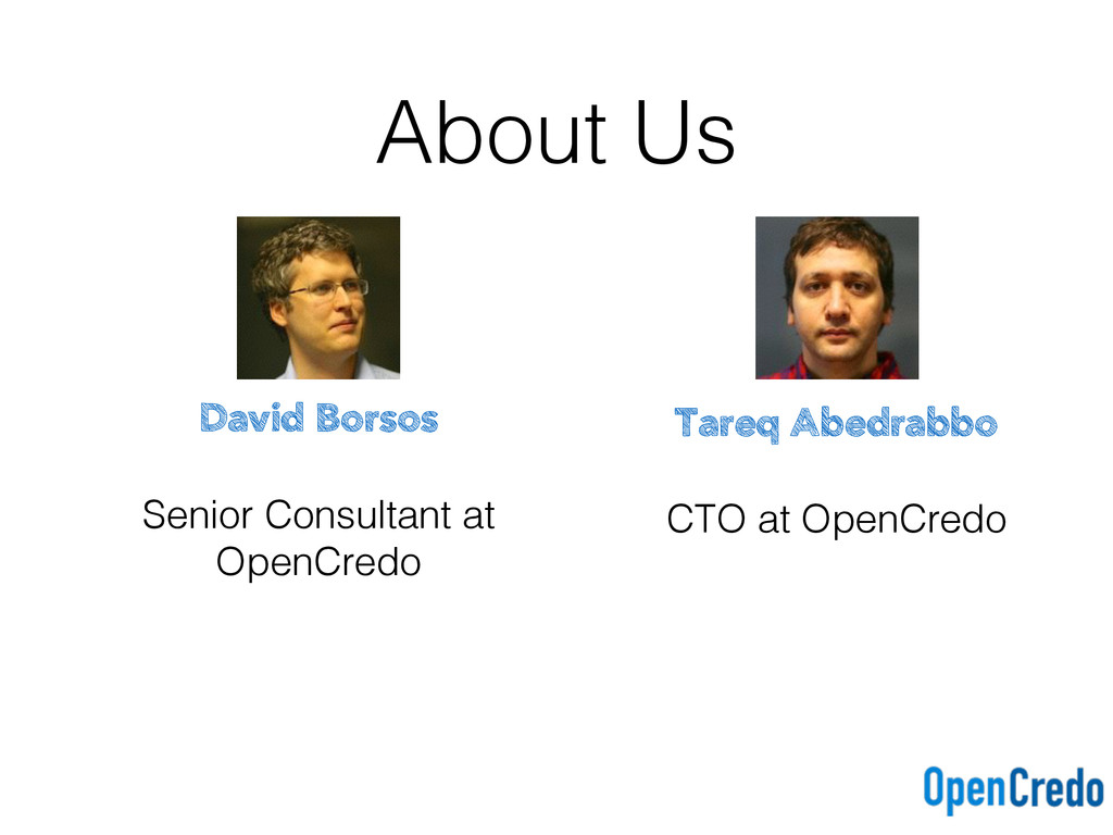About Us David Borsos Senior Consultant at Open...