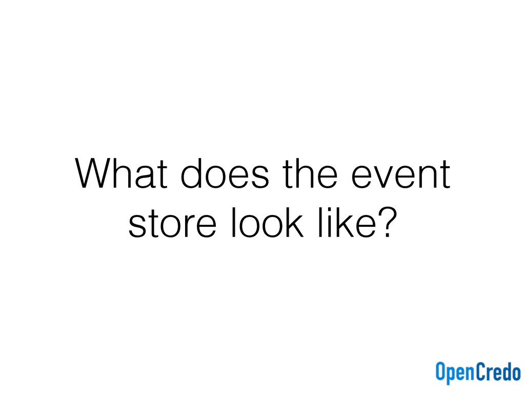 What does the event store look like?