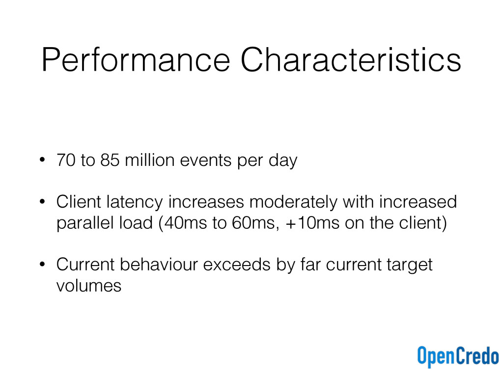 Performance Characteristics • 70 to 85 million ...