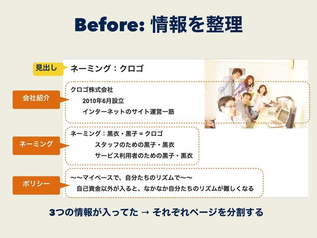 Before: ใΛཧ 3ͭͷใ͕ೖͬͯͨ → ͦΕͧΕϖʔδΛׂ͢Δ ձࣾհ ωʔ...