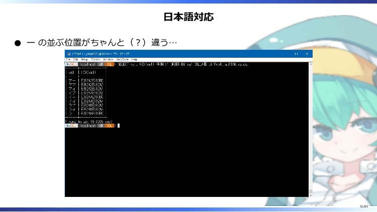 日本語対応 ー の並ぶ位置がちゃんと(?)違う… 31/65