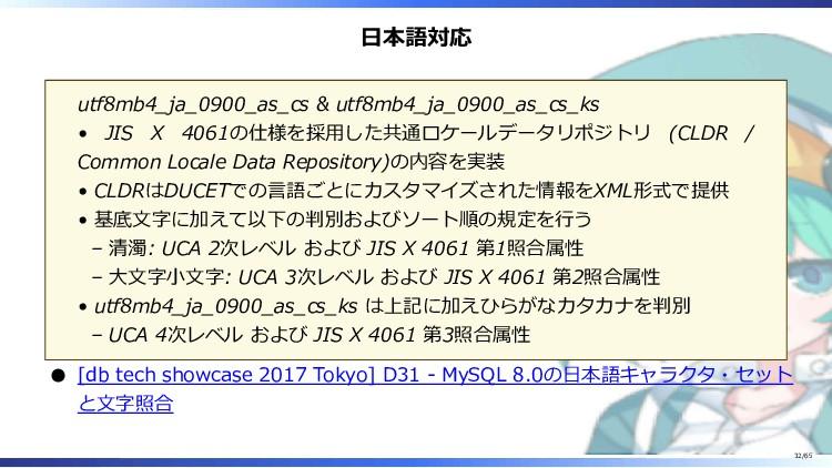 日本語対応 utf8mb4_ja_0900_as_cs & utf8mb4_ja_0900_a...
